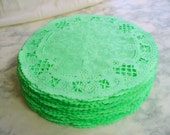 French Lace Paper Doilies, Mint Green Hand Dyed, 5 Inch, Party Supplies, Craft Project, Scrapbook, Doily,  Green Party Supplies, Garlands