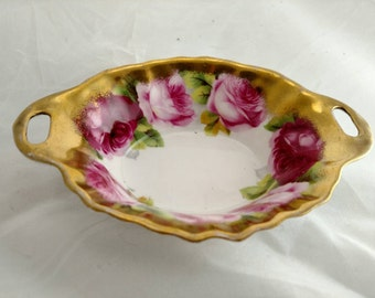 Royal Albert Bowl, Large Gold Border with Large Roses, Mint Condition