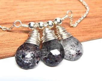 Amethyst terrarium necklace, moss amethyst necklace pendant, gemstone jewelry, dark purple