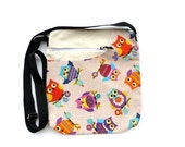 messenger bag zipped  hand bag crossbody bag purse red strong tote messenger bag sport bag shopping bag owl
