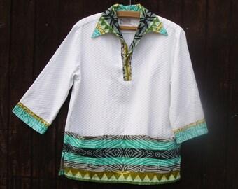 60s Mens Hawaiian Shirt . Vintage Surfer Shirt . Tiki . Luau . Waltah Clarke's . Hawaii