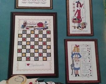 """Cross Stitch pattern - 'I Love Stitching"""" by Diane Arthurs"""