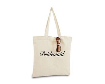 Bridesmaid Tote Bag, Will You Be My Bridesmaid, Bridesmaid Gift, Maid of Honor Gift, Bridesmaid Bag, Bridesmaid Tote, Recycled Canvas Tote
