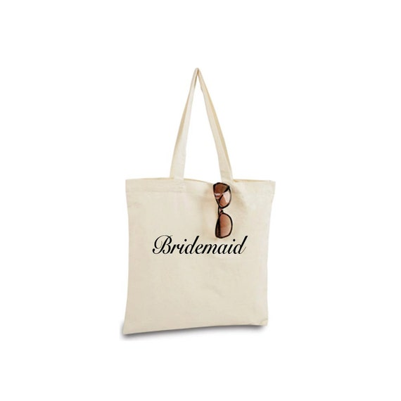 Bridesmaid Tote Bag, Will You Be My Bridesmaid, Bridesmaid Gift, Maid of Honor Gift, Bridesmaid Bag, Bridesmaid Tote, Recycled Canvas Tote
