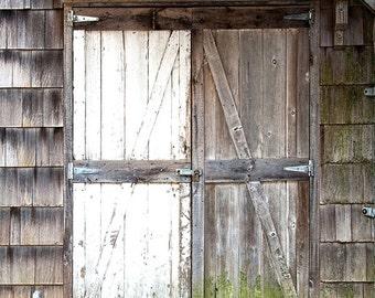 Two Tone Barn Doors - Vinyl Photography  Backdrop Photo Prop