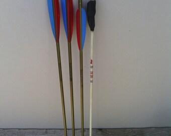 4 Vintage Archery Arrows