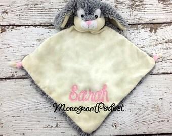 Personalized Bunny Rabbit Wee Blankie Cuddle Buddie