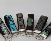 Turquoise Blue key fobs keychains wristlets