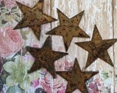 The Stars At Night Are Big And Bright 5 Large Rusty Metal Stars Rusty Stars Rustic Embellishments Supply Metal Stars