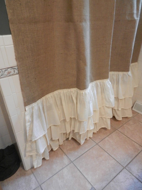 Burlap shower curtain with grommets myideasbedroom com