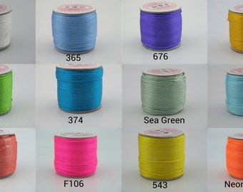 Choose Ur Color-- 40 Colors Avail. 50 Yards(1 roll) Eco-friendly  2.0mm Satin Silky Rattail Bugtail Cord/Trim Chinese Knot Kumihimo Macrame