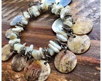 Beautiful sea shell bracelet