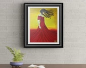 In The Wind Signed Art Print of Signature Original By Rafi Perez