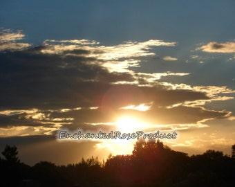 Sunset photography ~ Sunset Art  Photographic Print ~ Matted Photos ~ Trending Photography
