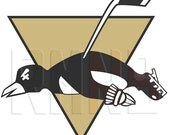 Ice Hockey Knocked Out Penguin RMNB Funny Decal Sticker