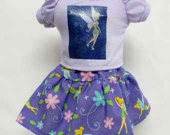 Tinker Bell Theme Outfit  For 18 Inch Doll Like The American Girl