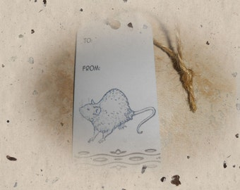 Set of 15 rat gift tags