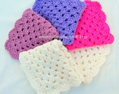 Crochet Washcloth Pattern Pdf download UK terms - Washcloth, Facecloth, Flannel (USA available also) - designed in Ireland