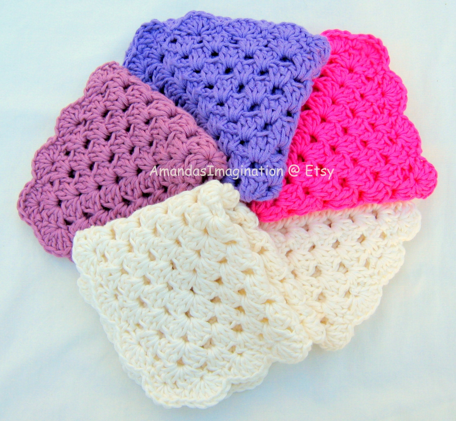 Crochet Granny Square Dishcloth Pattern : Crochet Dishcloth Pattern Pdf Granny Square Design UK terms