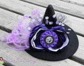 "SALE ***25% OFF*** Halloween ""I'm a Good Witch...Sometimes"" Over the Top Hair Bow Headband Witch Hat - by Sweet Tea Bowtique"