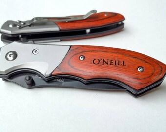 set of 4 groomsmen t pocket knife