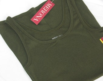 Nursing tank top-NEW COLOR-Kelp Green-Olive-smooth knit-Modest coverage-Brand new-Great for a Baby Shower Gift-breastfeeding nursing