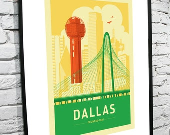Dallas, Texas Skyline 8x10 poster