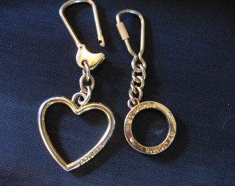 Designer St. Johns Knits Keychain Key Ring St. John Heart Bag Charm Key Chain