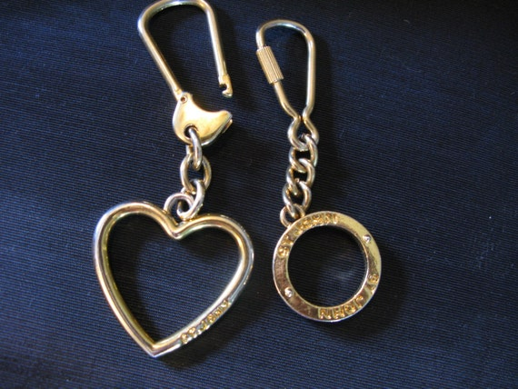 Designer St. Johns Knits, Purse Bag Charms, Keychain Key Ring St. John Heart Bag 2 Charm Key Chain
