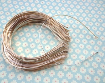 Gold headbands--20pcs 3mm gold metal headbands