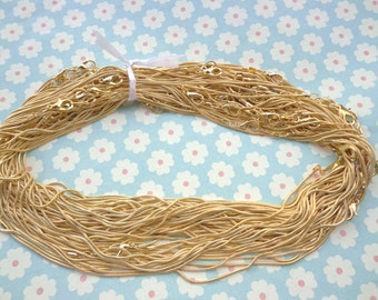 20 pcs 17 inch Gold Plated Snake Necklace Chain