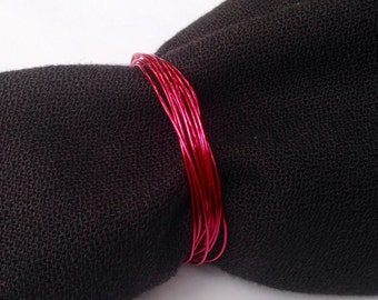 Hot Pink Wire Wrapped Wedding Napkin Rings, Hot Pink Metallic Napkin Ring, Napkin Holder, Pink Wedding