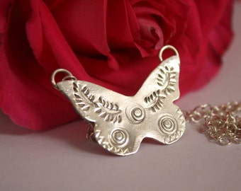 Cephalion, turquoise sterling silver butterfly bracelet