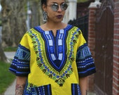 Unisex Dashiki Yellow African Shirt
