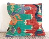 Hannah patterned kilim pillow cover