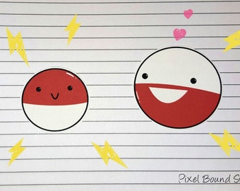 Voltorb/Electrode Stickers and Magnets