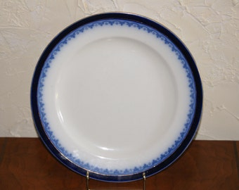 Vintage W H Grindley And Co Flow Blue Dinner Plate THE OLYMPIC Pattern Circa 1914 To 1925