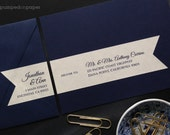 personalized mailing address labels for wedding invitations - customized wraparound return address labels with recipient addressing - WLA01