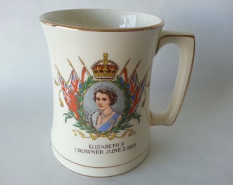 Commemorative Queen Elizabeth's II Coronation Royal Winton Mug