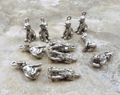 10 Pewter Dalmatian Puppy Charms - 5478