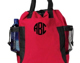 Monogrammed Backpack Tote