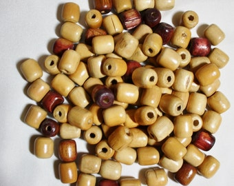 Macrame Wood Beads /Vintage /Lot of 100