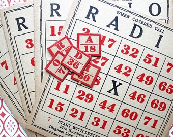 RADIO GAME CARDS*Vintage Game Cards*Set of 4 with Calling Numbers