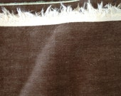 Brown Cotton Fabric Heavy Craft Sewing Supply 2+ Yards