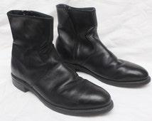 "80's Vintage ""RICO"" Black Leather High-Top Boots Sz: 9 (Men's Exclusives)"