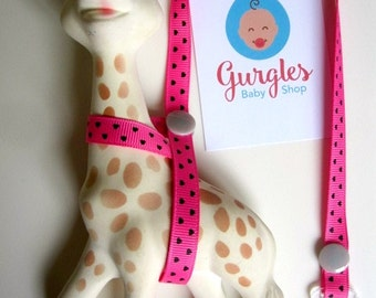 Sophie the Giraffe strap. Sophie harness