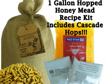 1 Gallon Hopped Honey Mead Ingredient Kit - Mead with Cascade Hops
