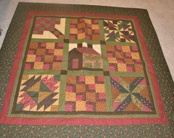 Reversible Traditional Sampler Quilt
