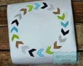 Arrow Path Circle Frame Embroidery Design