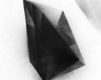 Dark Geometry minimal geometric original painting